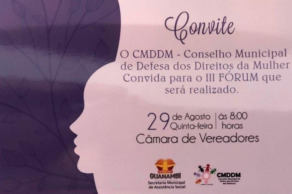 Conselho da Mulher realiza III Fórum em Guanambi