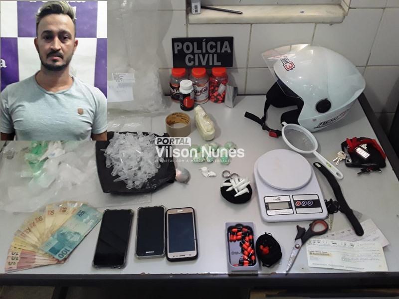 1 16 Polícia Civil prende pintor suspeito de tráfico e fecha laboratório de drogas, em Guanambi