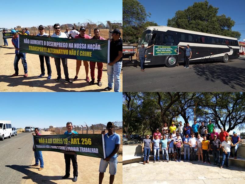 Guanambi: Donos de vans e transportes alternativos fecharão rodovias nesta segunda (19) contra Lei que endurece punição