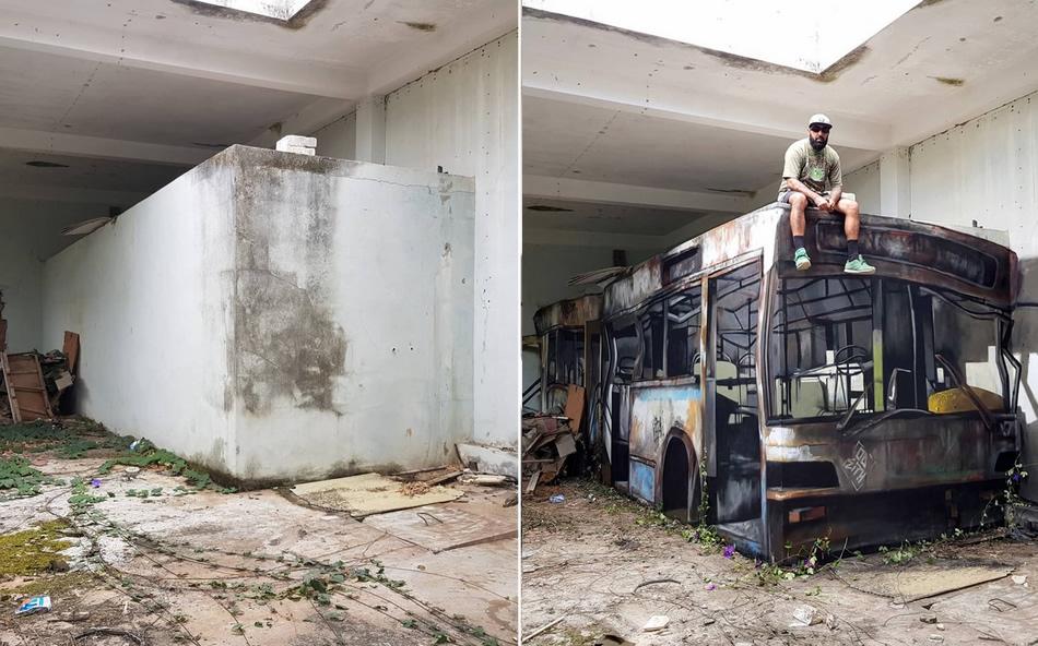 """1 54 Arte ou realidade? A verdade sobre o """"ônibus sucateado"""" que viralizou na internet!"""