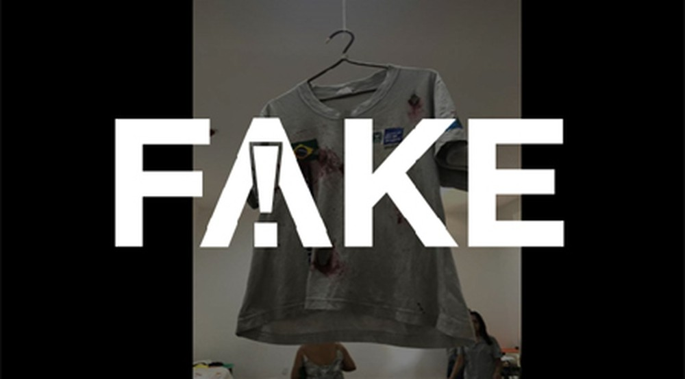 2 50 É #FAKE que uniforme escolar 'ensanguentado' seja da menina Ágatha, morta no Rio