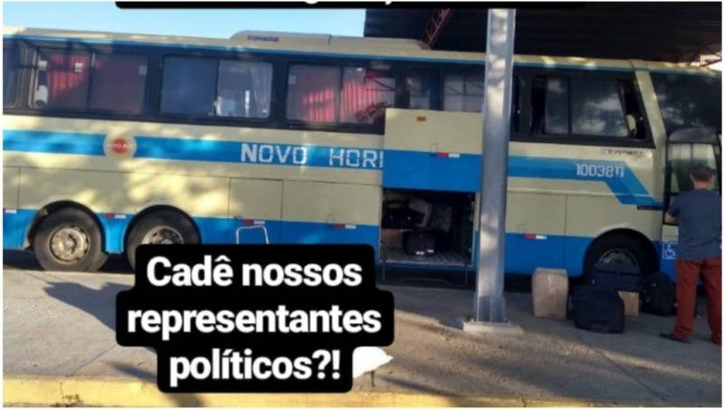 Em Guanambi, passageiros se recusaram a embarcar em ônibus precário rumo a Brasília