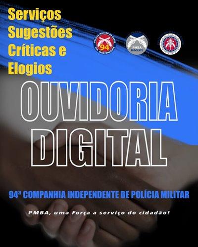 WhatsApp Image 2021 07 29 at 07.29.02 Caetité: 94ª CIPM lança a Ouvidoria Digital
