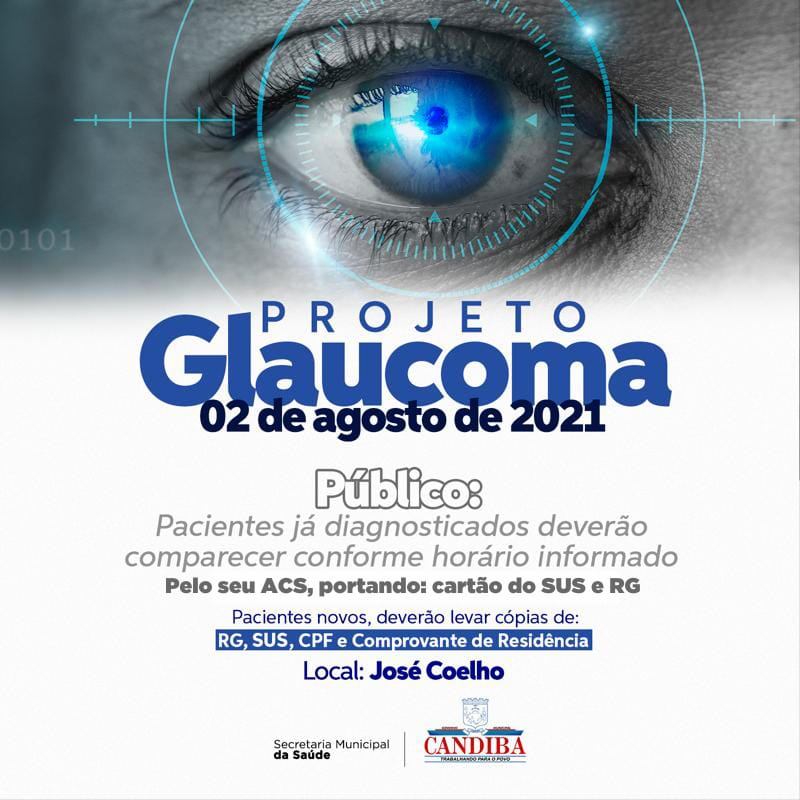 WhatsApp Image 2021 07 31 at 18.13.39 Prefeitura de Candiba realizará o Projeto Glaucoma