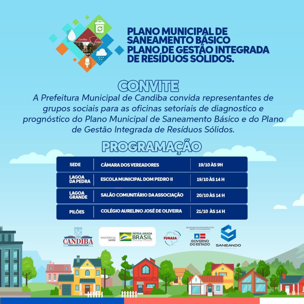 245619741 1264322603979600 3180673653393775662 n Prefeitura de Candiba promoverá oficinas para apresentar Plano Municipal de Saneamento Básico e de Gestão Integrada de Resíduos Sólidos