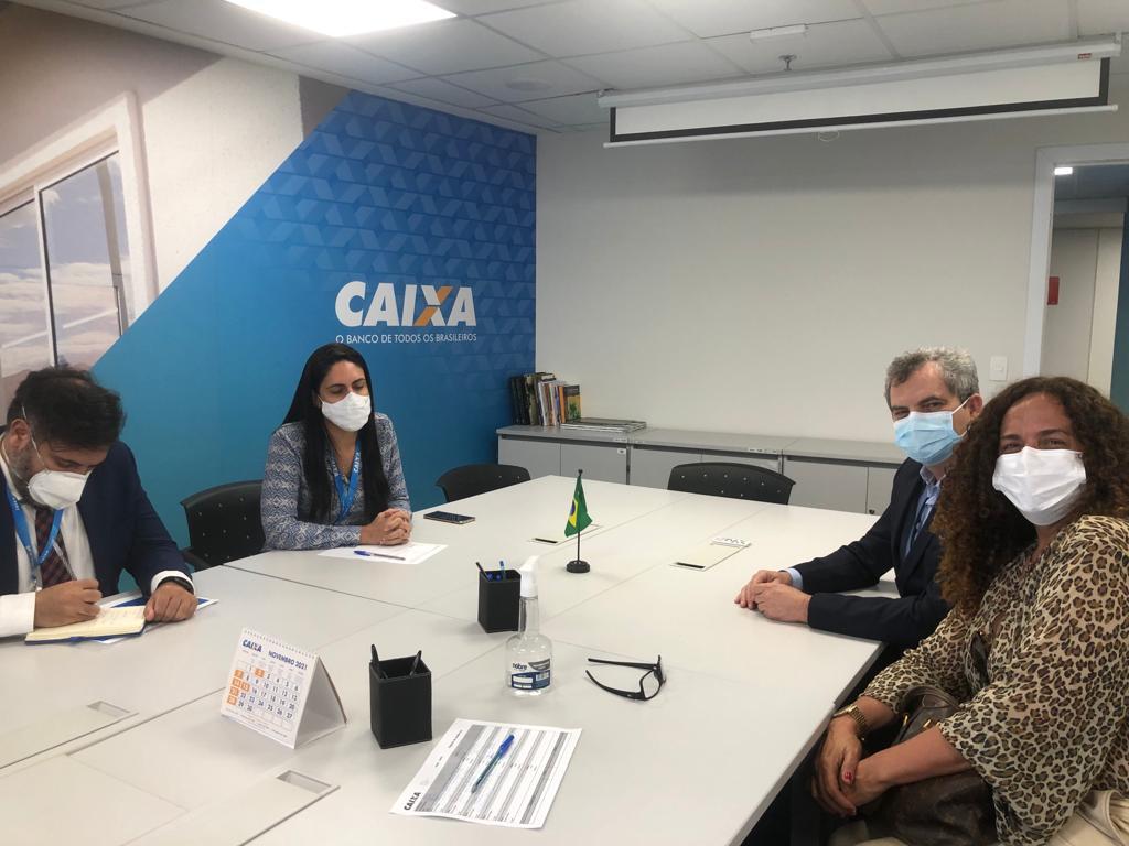 CAIXA Durante audiência em Brasília, Prefeito Dr. Pedro Malheiros solicita agência da Caixa Econômica para Sebastião Laranjeiras