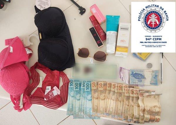 WhatsApp Image 2021 10 15 at 22.26.46 PM prende duas mulheres que furtavam lojas em Caetité