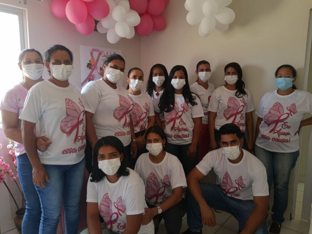 outubro rosa 1 UBS de Mandiroba em Sebastião Laranjeiras mobiliza ações de conscientização sobre o câncer de mama